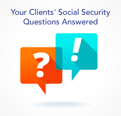 clients' social security questions